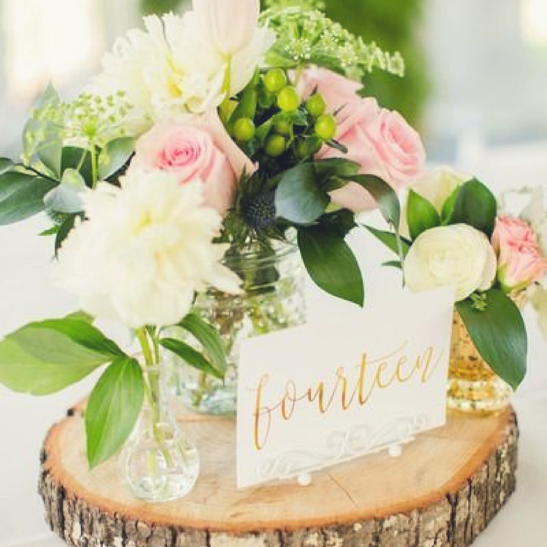 8 Ways To Use Wood Slices In Your Woodland Wedding